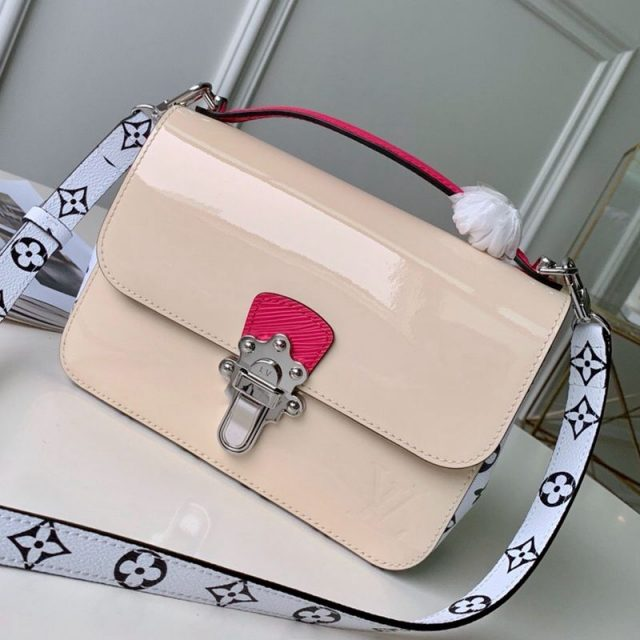 Louis Vuitton Cherrywood BB in Monogarm Canvas and Cream White Patent Leather M51953 2019 (KD-9050841 )