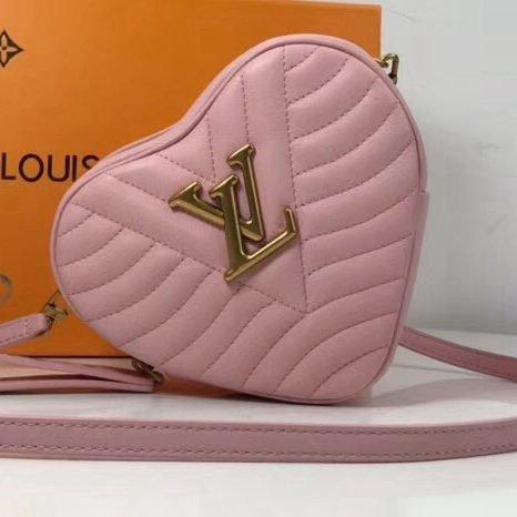 Louis Vuitton Calfskin Heart Bag New Wave Bag M52794 Pink 2019 (XYS-9011804 )