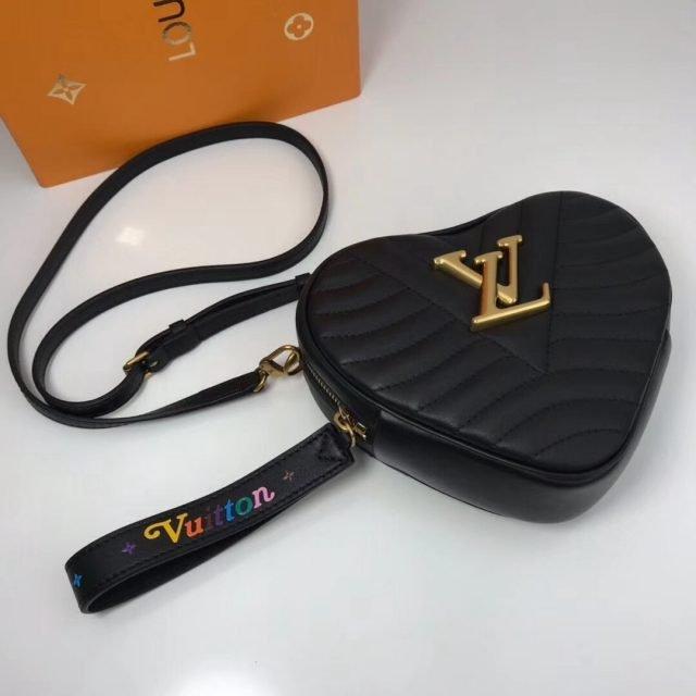 Louis Vuitton Calfskin Heart Bag New Wave Bag M52794 Black 2019 (XYS-9011805 )