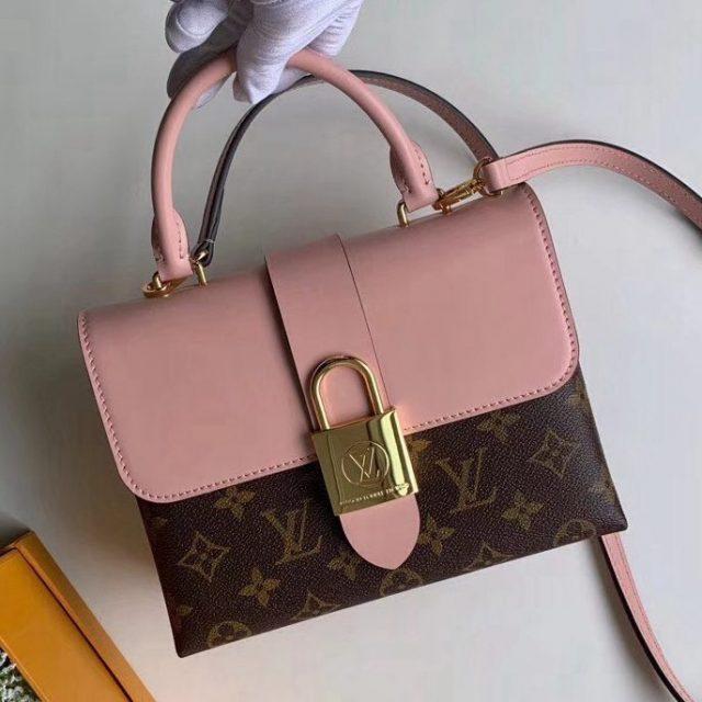 Louis Vuitton Monogram Canvas & Calfskin Lucky BB Bag Rose Poudre M44080 2019 (F-9012111 )