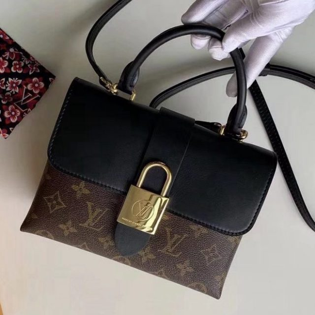 Louis Vuitton Monogram Canvas & Calfskin Lucky BB Bag Noir M44141 2019 (F-9012114 )
