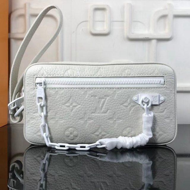 Louis Vuitton Monogram Christopher Clutch Bag White Spring 2019  (XYS-8111932 )