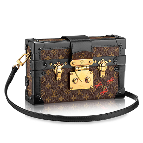 Louis Vuitton M40273 Petite Malle Crossbody Bag Monogram Canvas