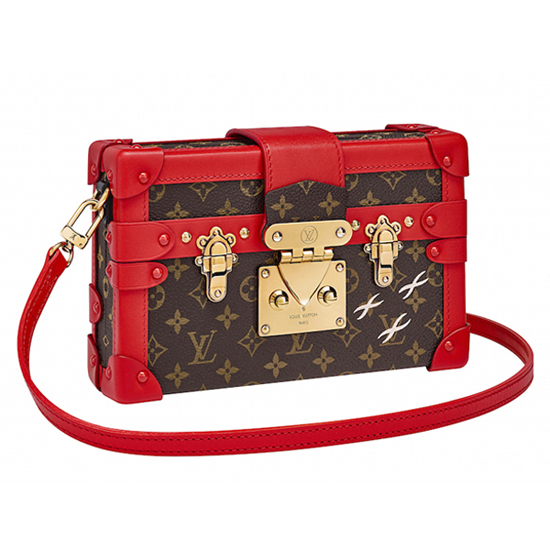Louis Vuitton M40274 Petite Malle Crossbody Bag Monogram Canvas