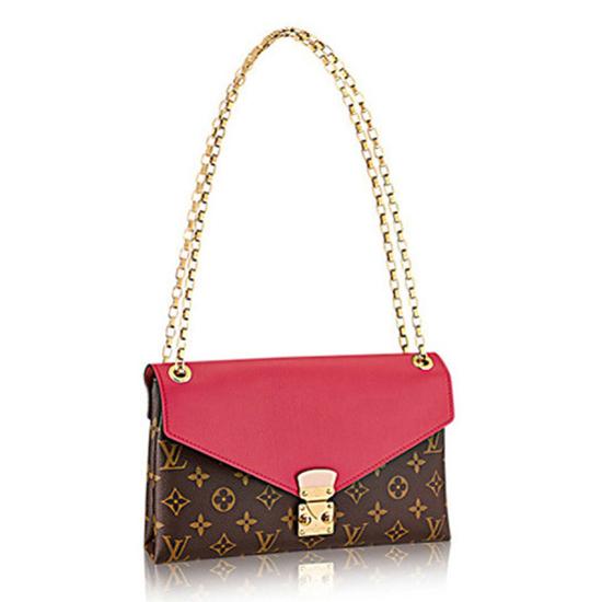 Louis Vuitton M40542 Pallas Chain Shoulder Bag Monogram Canvas