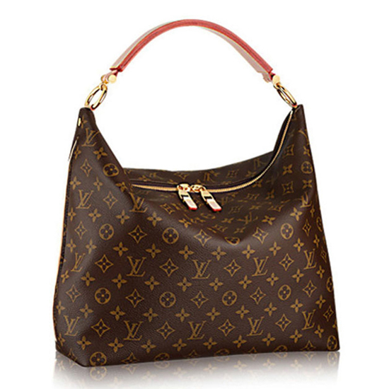 Louis Vuitton M40587 Sully MM Hobo Bag Monogram Canvas
