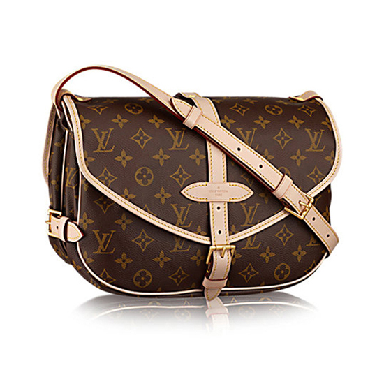 Louis Vuitton M40710 Saumur MM Crossbody Bag Monogram Canvas