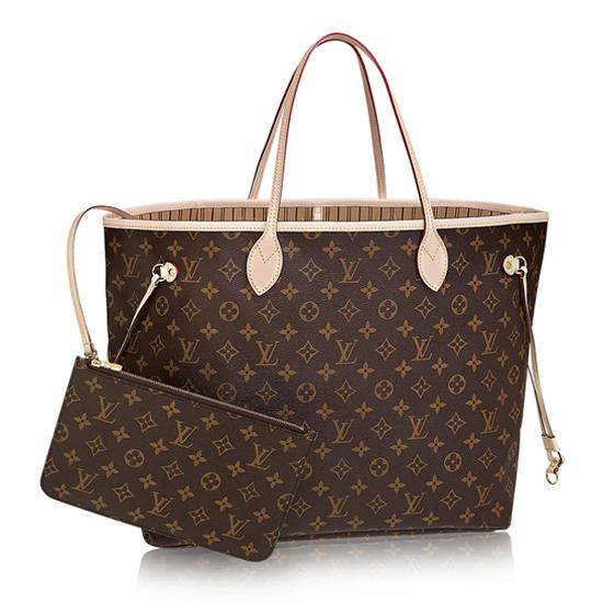 Louis Vuitton M40990 Neverfull GM Shoulder Bag Monogram Canvas