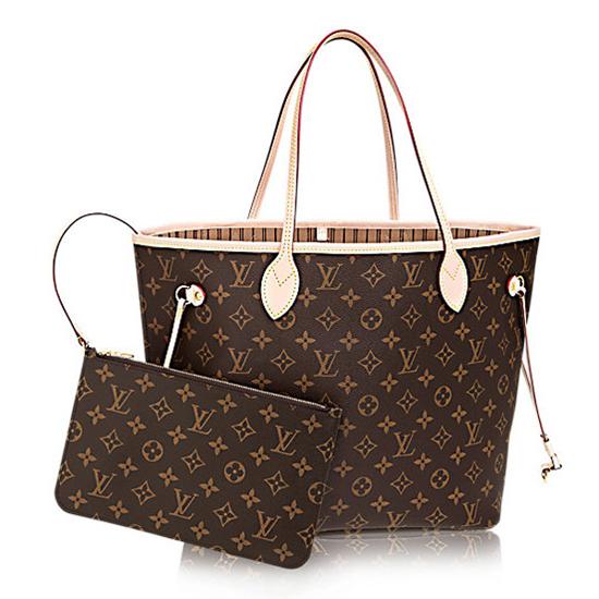 Louis Vuitton M40995 Neverfull MM Shoulder Bag Monogram Canvas