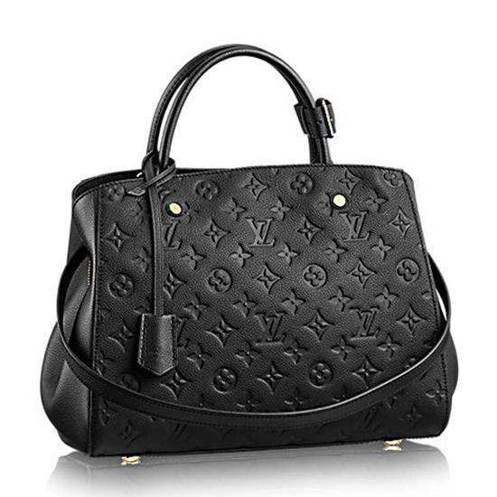 Louis Vuitton M41048 Montaigne MM Tote Bag Monogram Empreinte Leather