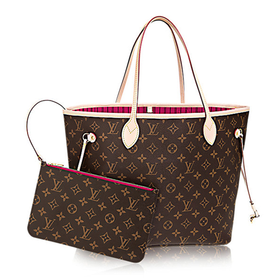 Louis Vuitton M41178 Neverfull MM Shoulder Bag Monogram Canvas