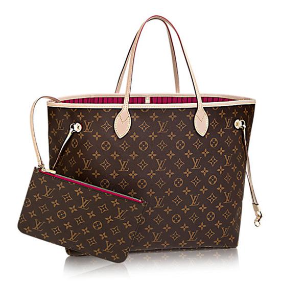 Louis Vuitton M41180 Neverfull GM Shoulder Bag Monogram Canvas