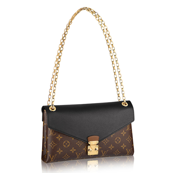 Louis Vuitton M41223 Pallas Chain Shoulder Bag Monogram Canvas