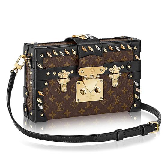Louis Vuitton M41552 Petite Malle Crossbody Bag Monogram Canvas