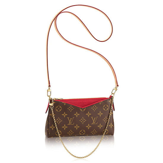 Louis Vuitton M41638 Pallas Clutch Crossbody Bag Monogram Canvas