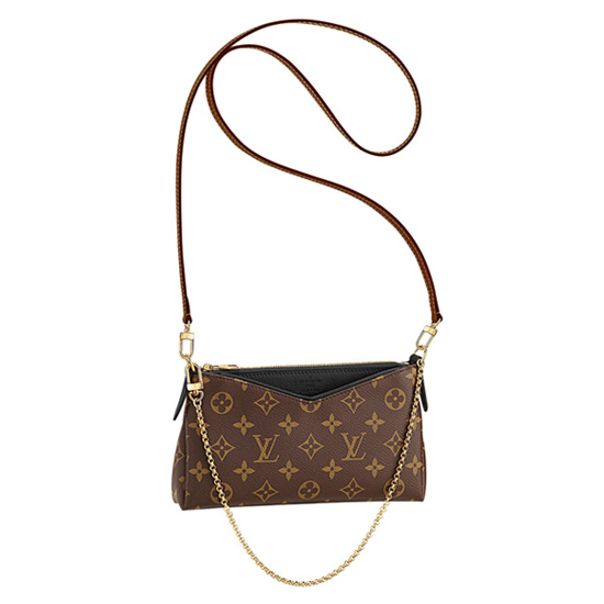 Louis Vuitton M41639 Pallas Clutch Crossbody Bag Monogram Canvas