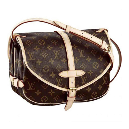Louis Vuitton M42256 Saumur Crossbody Bag Monogram Canvas