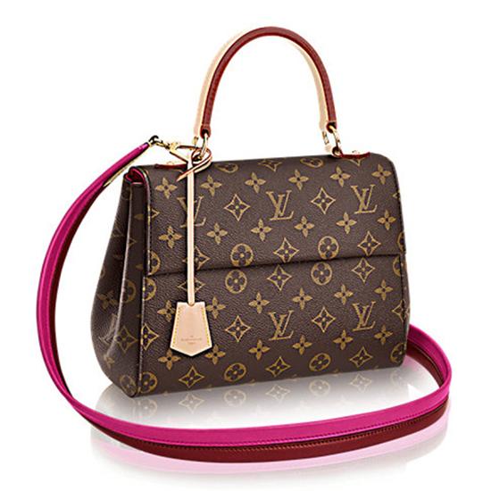 Louis Vuitton M42738 Cluny BB Tote Bag Monogram Canvas