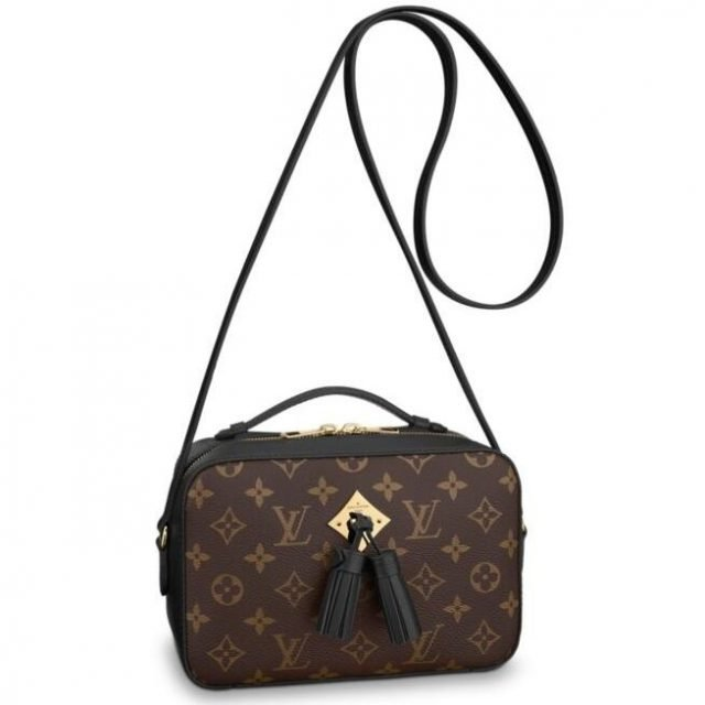 Louis Vuitton Black Saintonge Bag Monogram M43555