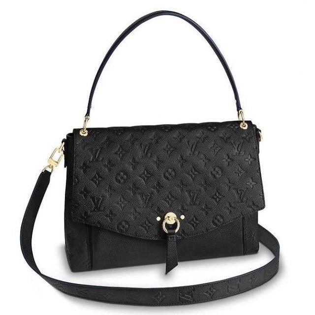 Louis Vuitton Black Blanche Bag Monogram Empreinte M43616