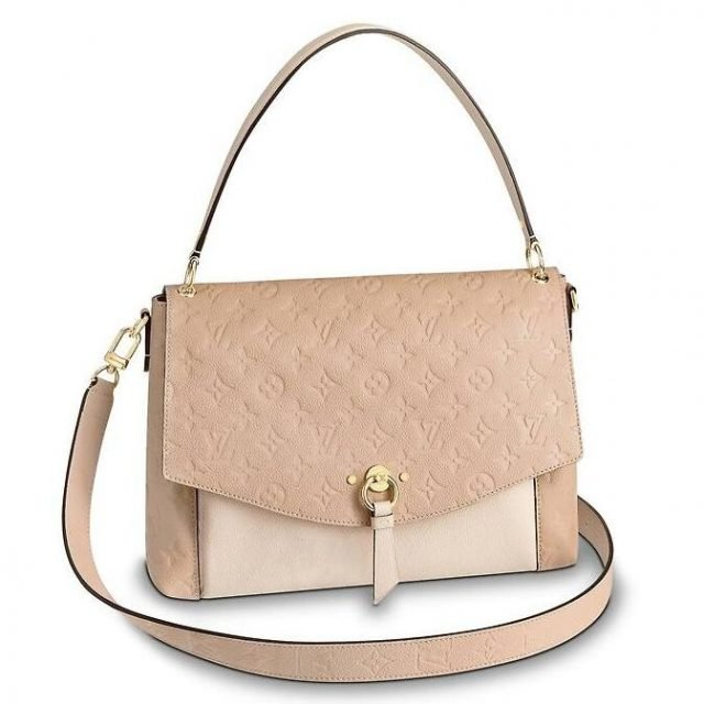 Louis Vuitton Creme Blanche Bag Monogram Empreinte M43619