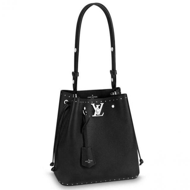 Louis Vuitton Black Lockme Bucket Bag M43878