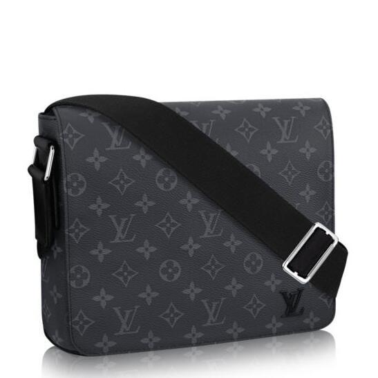 Louis Vuitton District MM Bag Monogram Eclipse M44001