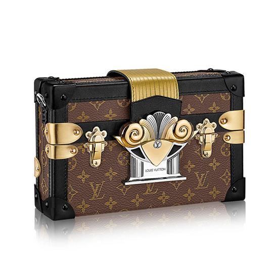 Louis Vuitton M44097 Petite Malle Crossbody Bag Monogram Canvas