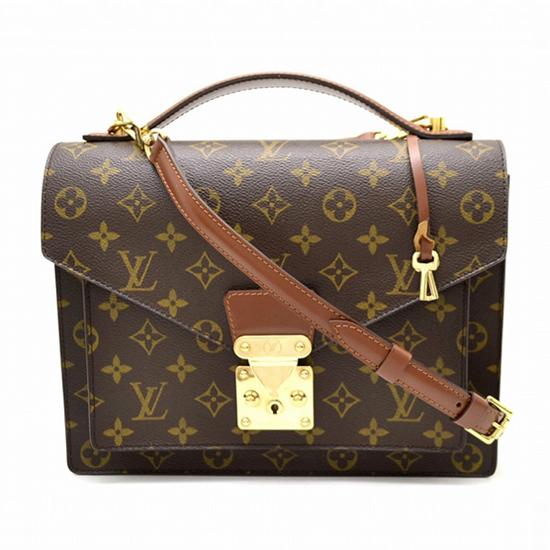 Louis Vuitton M51185 Monceau Crossbody Bag Monogram Canvas