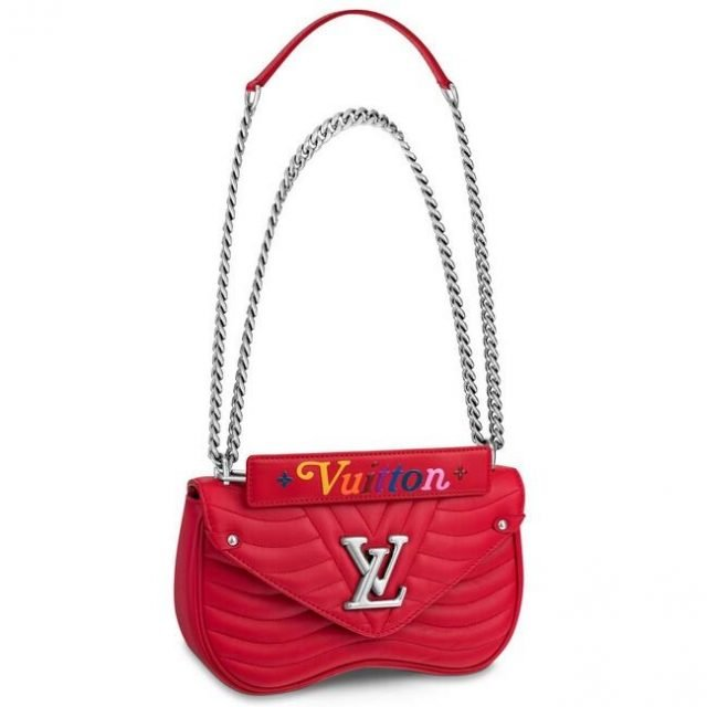 Louis Vuitton Red New Wave Chain Bag MM M51943