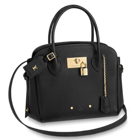 Louis Vuitton Black Milla PM Bag Veau Nuage M51684