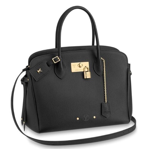 Louis Vuitton Black Milla MM Bag Veau Nuage M54348