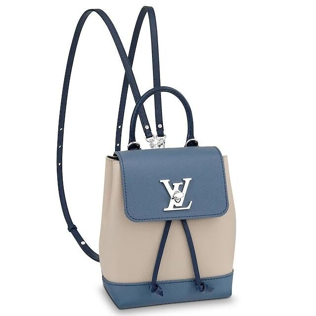 Louis Vuitton Blue Jean Lockme Mini Backpack M55017