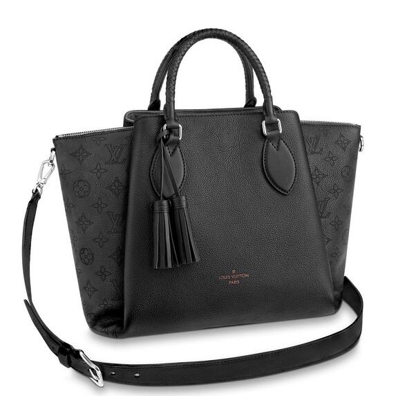 Louis Vuitton Black Haumea Bag Mahina Leather M55029