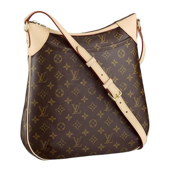 Louis Vuitton M56389 Odeon MM Crossbody Bag Monogram Canvas