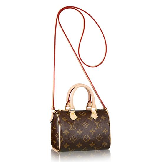 Louis Vuitton M61252 Nano Speedy Crossbody Bag Monogram Canvas