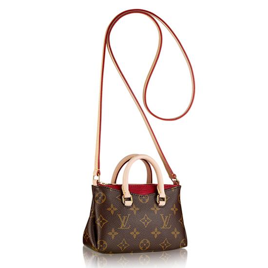 Louis Vuitton M61254 Nano Pallas Crossbody Bag Monogram Canvas