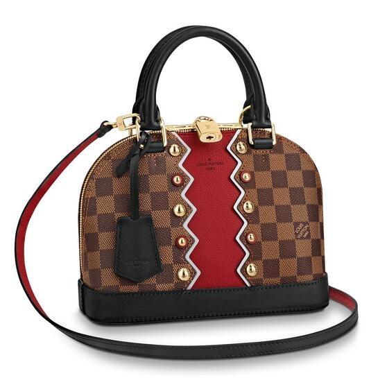 Louis Vuitton Alma BB Bag Damier Ebene Studs N40046