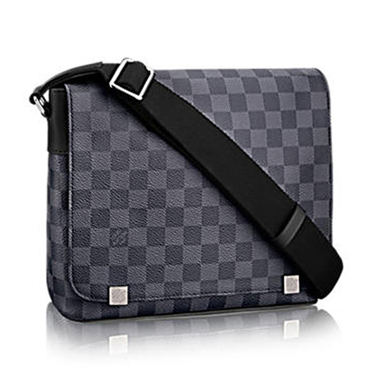 Louis Vuitton N41028 District PM Messenger Bag Damier Graphite Canvas