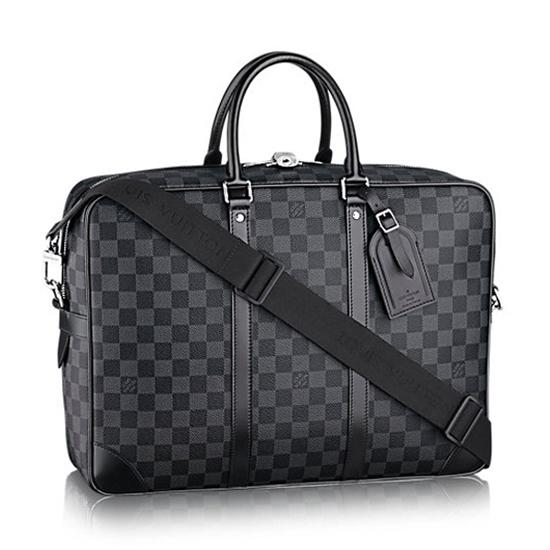 Louis Vuitton N41123 Porte-Documents Voyage GM Briefcase Damier Graphite Canvas