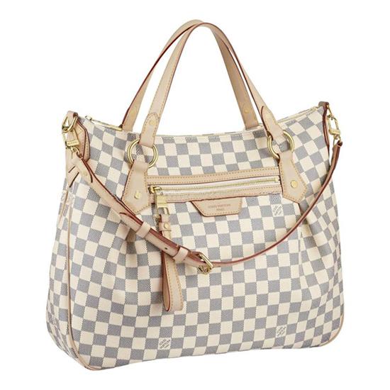 Louis Vuitton N41133 Evora MM Shoulder Bag Damier Azur Canvas