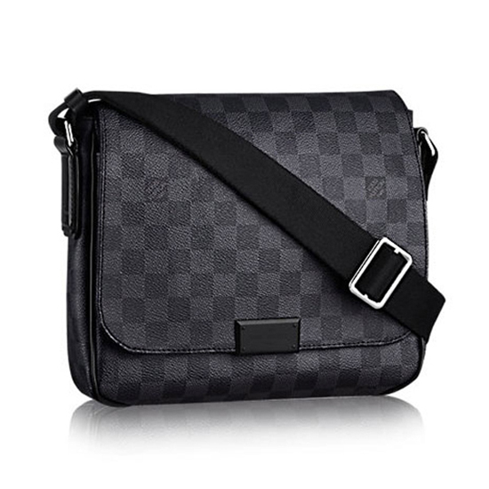 Louis Vuitton N41260 District PM Messenger Bag Damier Graphite Canvas