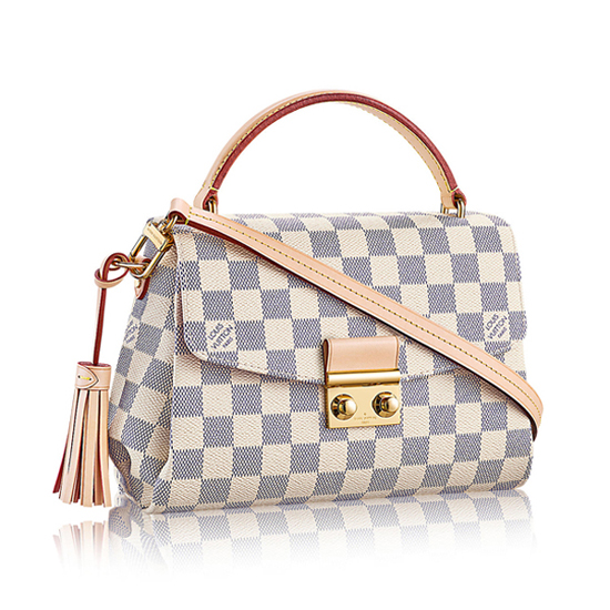 Louis Vuitton N41581 Croisette Crossbody Bag Damier Azur Canvas