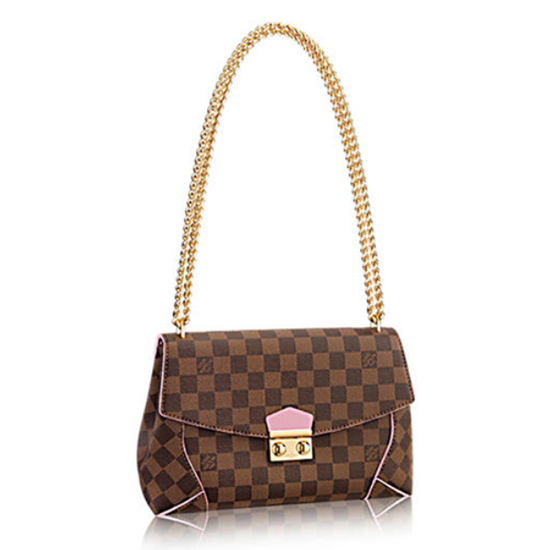 Louis Vuitton N41597 Caissa Clutch Shoulder Bag Damier Ebene Canvas