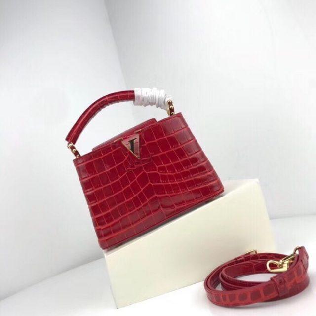Louis Vuitton Capucines Mini Crocodile Bag N93254
