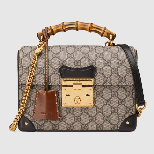 Gucci Padlock GG Small Shoulder Bag Beige