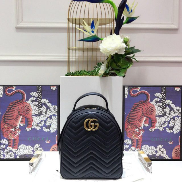 GG Marmont quilted leather backpack 2020 Black
