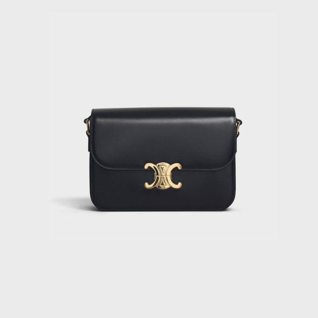 CELINE MEDIUM TRIOMPHE BAG IN SHINY CALFSKIN