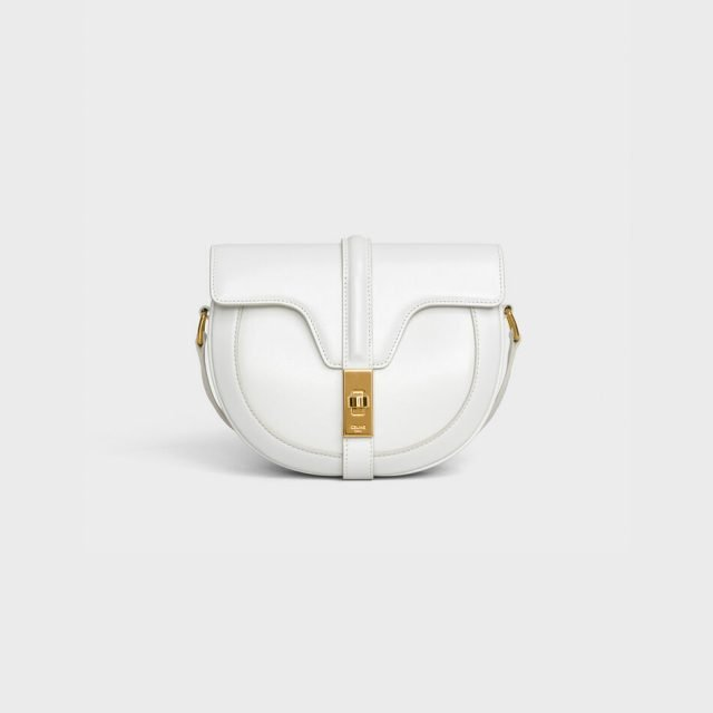 CELINE SMALL BESACE 16 BAG IN SATINATED CALFSKIN WHITE