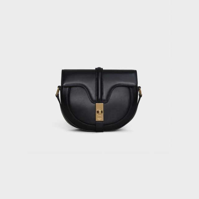 CELINE SMALL BESACE 16 BAG IN SATINATED CALFSKIN BLACK